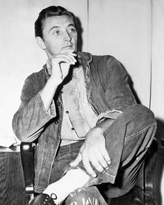 Robert Mitchum in a Jail Cell as Started His Sentence on a Narcotic Charge...