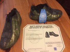 BSG Props Esrin's Hero Flight Suit Shoes - with Certificate of Authenticity