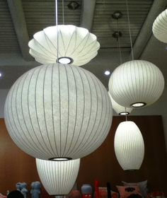 George Nelson Bubble Lamps - we've moved this light into three different homes!  I love it and would hate to see a new home owner toss it out!!!