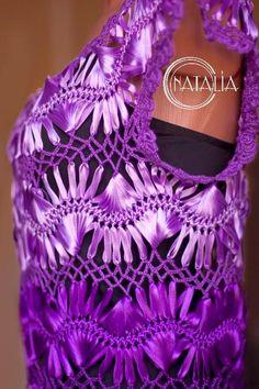 Vestido de época años 50 tejido con horquilla y crochet                                 ***********************...