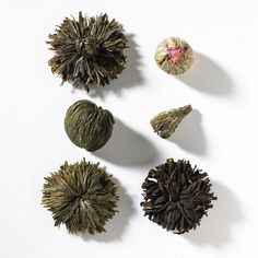 Closed flower tea balls.  Can you imagine how they will look when open?