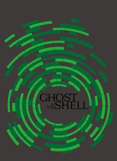 Ghost in the Shell (1995) ~ Minimal Movie Poster by Ahmet Can #amusementphile