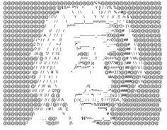 Albert Einstein ASCII Art #legend
