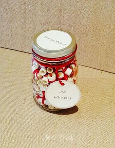 A Mason Jar full of personalized messages... Yes Please! Perfect For: -Loved Ones Deployed -What better way to keep you close in their heart by The Mason Jar Inc.   Message Filled Mason Jar  The Mason Jar filled Notes, Favors, Thoughts..  Message Filled Jar with thoughts, love notes and more makes a great Mason Jar Gifts filled  as a Message Filled Mason Jar  #themasonjarinc #masonjargift #themasonjar #messagefilledjar  Visit us on the web - www.themasonjarinc.com