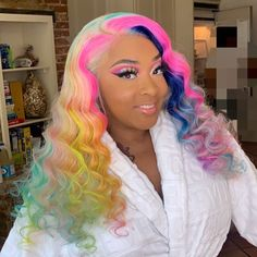 Women Pink Wigs Lace Front Hair Pink And Ginger Hair Pale Pink Hair Peach Pink Hair Color – chiveral Pale Pink Hair, Pink Wig, Hair Color Pink, Hair Colours, Lace Front Wigs, Lace Wigs, Hair Colorful, Multicolored Hair, Pelo Multicolor