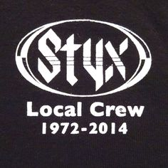 Styx Local Crew T-Shirt 1972-2014 Soundtrack of Summer Tour (?) Size XL