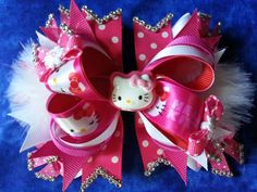 5 inch girls Fun BOUTIQUE STACKED BOW. Hot by AdorableBoutiqueBows, $9.99