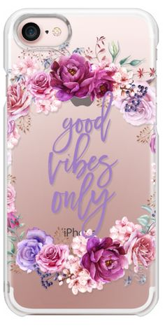 Casetify iPhone 7 Plus Case and iPhone 7 Cases. Other Purple iPhone Covers - Gold Vibes Only by Ruby Ridge Studios | Casetify #iphone6scase,
