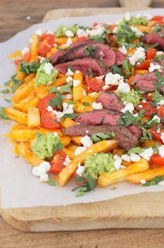 Chili steak friet met cheddar en guacamole - Francesca Kookt