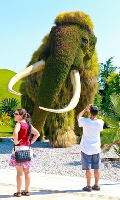 Expo's favorite plant sculptures - All About Outdoor Topiary, Topiary Garden, Montreal Botanical Garden, Botanical Gardens, Amazing Gardens, Beautiful Gardens, Grass Flower, Growing Gardens, Plant Art