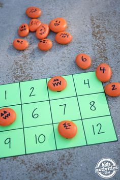 Want a fun way to sneak in some Halloween math into the holiday's festivities? These three Halloween math activities using pumpkin rocks are sure to Halloween Math, Halloween Activities For Kids, Halloween Crafts For Kids, Autumn Activities, Holidays Halloween, Preschool Activities, Holiday Crafts, Halloween Projects, Halloween Stuff