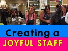 Creating a Joyful Staff with Team Building a must read for principals and school leaders. Teacher Morale, Staff Morale, Life Coach Training, Staff Training, School Leadership, Educational Leadership, Preschool Director, Educational Administration, Faculty Meetings