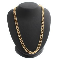 "qvc Kenneth Jay Lane Goldtone Duchess Curb Link 29"" Necklace 576M #KennethJayLane #Link"