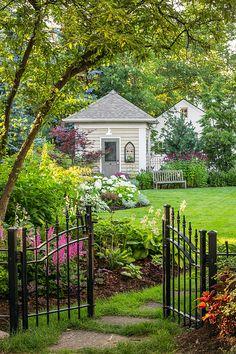 20 Casual Spring Garden Gates Design Ideas That Tor Design, Gate Design, Outdoor Rooms, Outdoor Living, Dog Friendly Garden, Garden Stones, Garden Gates, Garden Sheds, Spring Garden