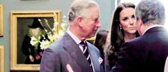 Love Catherine's expression when she realizes her father in law is looking her way.