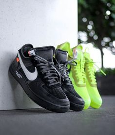 For sale Cheap Nike Off-White Air Force 1 Low / OW Volt sneakers Moda Sneakers, Sneakers Mode, White Sneakers, Air Max Sneakers, Nike Air Max Command, Nike Fashion, Sneakers Fashion, Fashion Shoes, Mens Fashion