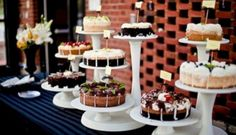 No More Tiers: 10 Fun & Budget-Friendly Wedding Desserts that Aren't Cake Cheesecake Wedding Cake, Cheesecake Bars, Ricotta Cheesecake, Classic Cheesecake, Wedding Desserts, Pie Bar Wedding, Wedding Shoes, Wedding Bands, Wedding Flowers