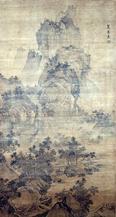 Dai Jin: Summer Trees Casting Shade, 15th century; ink and colors on silk; 78 x 42 1/8 in.; purchase made possible through gifts from an anonymous donor, Robert Bloch, the Warren King Family, Jane Lurie, Kirsten and Terry Michelsen, and other Friends of the Asian Gallery.