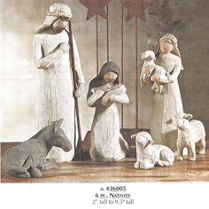 """Nativity set - Willow Tree Angel - """"Behold the awe and wonder of the Christmas story""""   Order # X-26027        $89.00"""