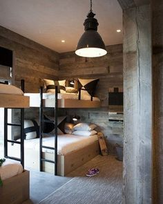 Loft bed in the nursery 100 cool bunk beds for kids Jugendzimmer für Teenager Bunk Beds Built In, Modern Bunk Beds, Cool Bunk Beds, Kids Bunk Beds, Loft Beds, Full Size Bunk Beds, Double Bunk Beds, Decoracion Vintage Chic, Bunk Rooms