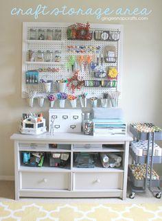Craft Storage Area sneak peek from Ginger Snap Crafts
