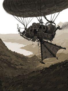 flyingboat, Victor Crookdleg on ArtStation at https://www.artstation.com/artwork/egXxw