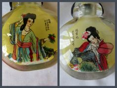 Vintage Chinese Inside Painted Snuff Bottle Signed by vintagelady7