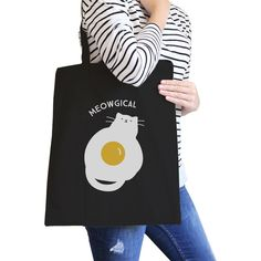 2 Sizes available! Celestial Cat Shopper Bag for Cat Lover Meowgical Cotton Canvas Vintage Tote Bag