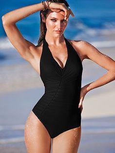 264e694e2b Pintuck One-piece Swimwear Fashion