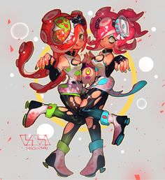 Am I the only one who thinks they are the octoling's super stars? Like Callie and marie?