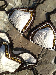 Biquínis | croche | branco | marrom | caramelo | nude Mais