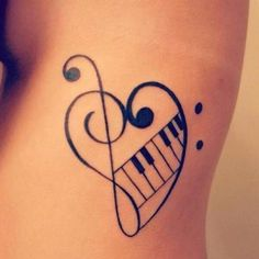 Music Piano Tattoos