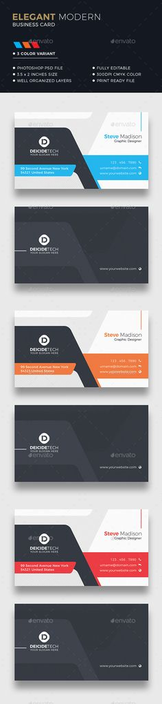 Business card design suitable for companies or personal use. Download here: https://graphicriver.net/item/corporate-business-card/20217657