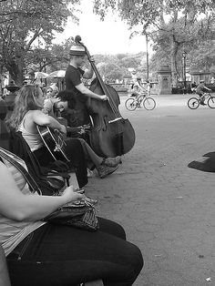 Katy and I stumbled on this group in Central Park one of the last days we were in NYC... one of the coolest moments of the trip, because we weren't expecting to run into anything like it. We were just taking a walk through the park and ran into the last half of a great show this band was putting on. They're called the Dirty Urchins - check 'em out!