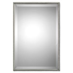 Add a timeless and unique look to any living space with this beveled Sherise mirror. This gorgeous mirror is framed by a brushed nickel, metal frame with a decorative beading design.