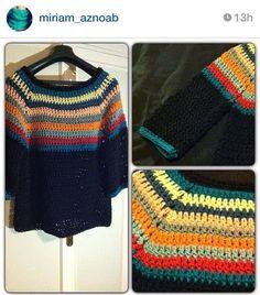 Crochet Baby Dress Pattern, Crochet Jumper, Crochet Patterns, Pull Crochet, Knit Crochet, Crochet Lingerie, Crochet Woman, Knitting For Beginners, Crochet Clothes