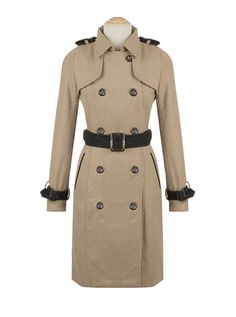 Woolen Double Trench Coat #koreanfashion #wool #thick #beige #trench #coat #winter #koreanfashionista