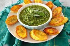 Pan-Fried Plantains and Basil Chimichurri - Real Food with Dana
