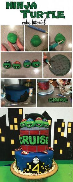 Ninja Turtle Cake Tutorial | Walking Through Wonderland
