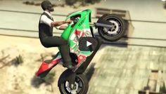 Grand Theft Auto V Motorcycle Hotel Stunt Jump