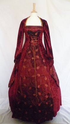 medieval dress pagan gown goth costume velvet Fantasy Handfasting  Renaissance wedding custom made to any size clothing faire larp $148 etsy
