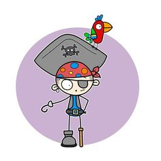 The coloring page this cute pirate can be found on my Facebook page. Link in bio