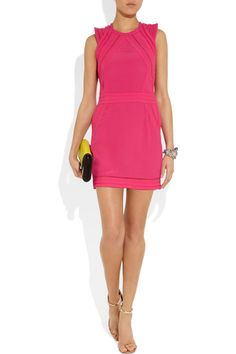 IRO's Cutout neon crepe mini dress would look gorge with a hot new tan