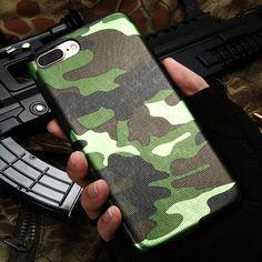 Kisscase 대한 iphone 7 case 군사 위장 멋진 남성 가죽 다시 커버 case 대한 iphone 7 7 plus 대한 iphone 6 6 s plus 5 5 초 se