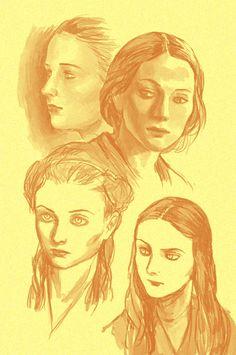 Some studies with Sansa Stark. Sansa Stark, Lady, People, Movies, Libros, People Illustration, Folk