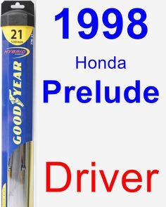 Driver Wiper Blade for 1998 Honda Prelude - Hybrid