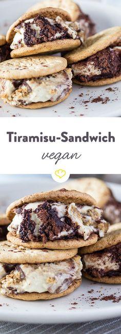 Tiramisu geht nur mit Mascarpone? Von wegen! Tiramisu geht auch vegan. Und zwar als herrlich saftige und gleichzeitg knusprige Cookies.