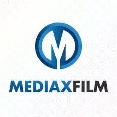 Exclusive Customizable M Lettermark Logo For Sale: Mediax Film   StockLogos.com