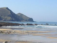 One of favourite local beaches, Crackington Haven on the North Cornish coast just south of Bude, UK.