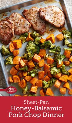 A sweet-and-savory glaze elevates the humble pork chop to weeknight staple status, especially when paired with crisp-tender broccoli and roasty sweet potatoes.